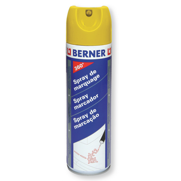 Spray marcador 360° amarillo, 500 ml